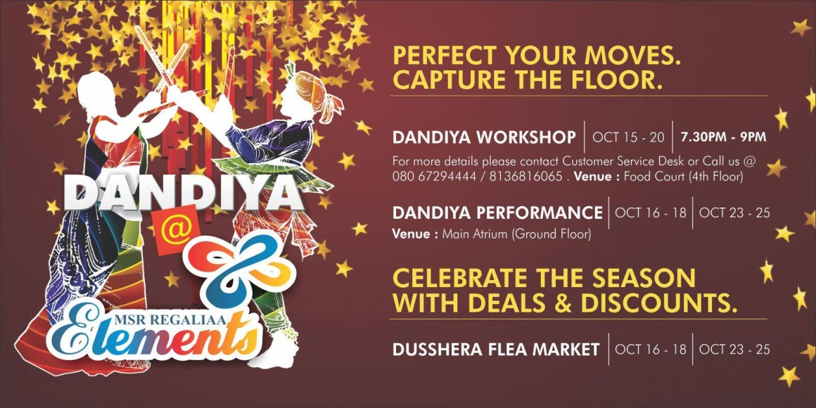 Dandiya Workshop and Dusshera Flea Market @ Elements Mall