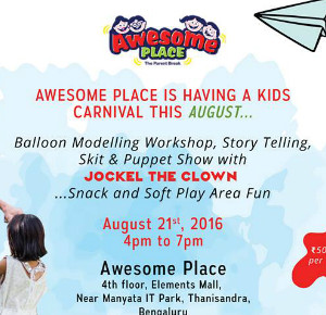 Awesome place is having a kids party this August!