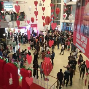 Valentine's Day concert held at Elements Mall.